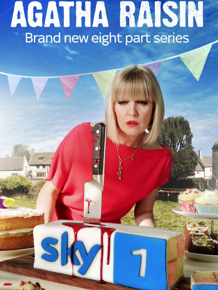 Agatha raisin, Sky, Sue Townsend, professional food stylist, Style Department