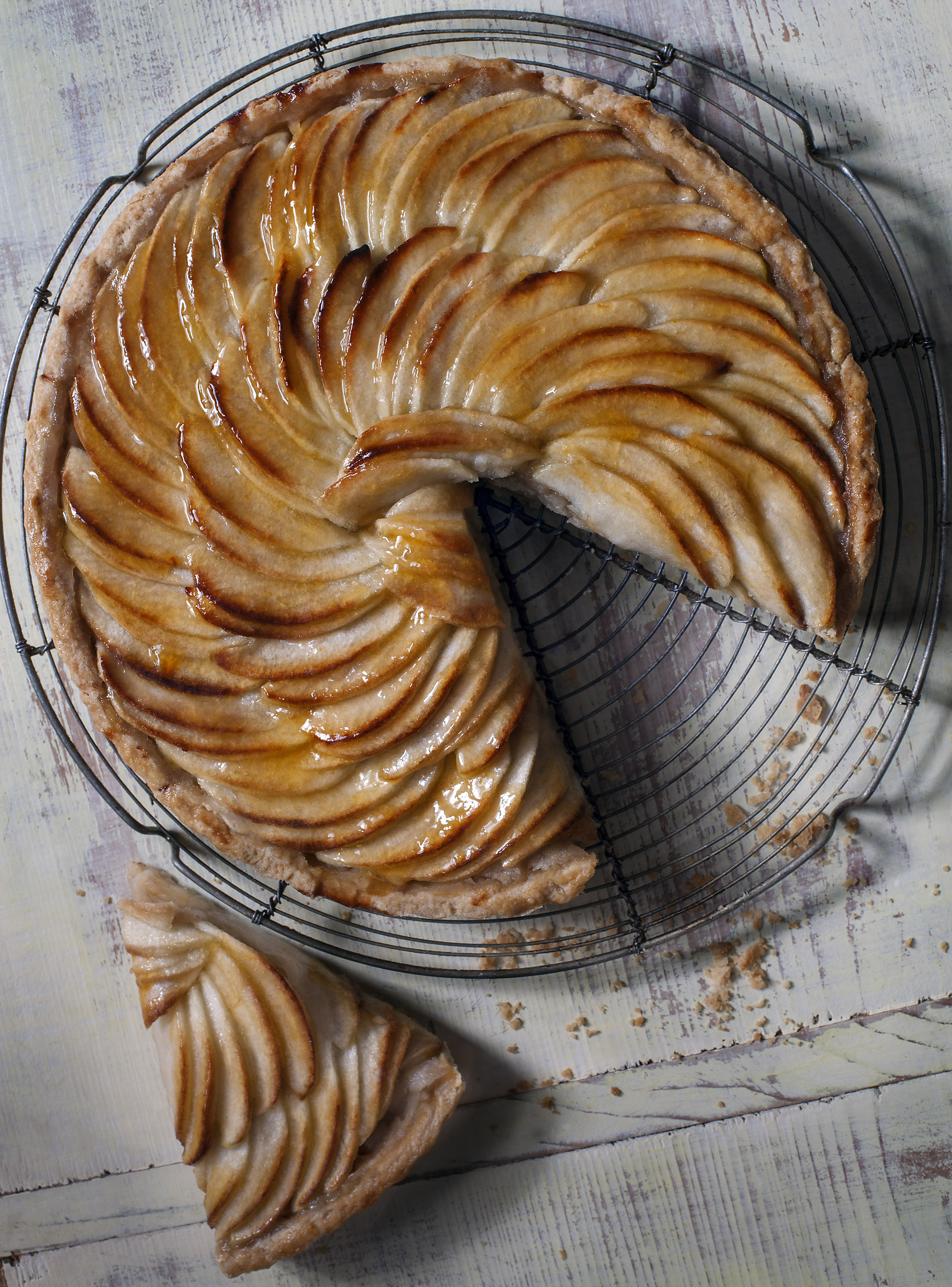 Julia Azzarello, professional food stylist, Style Department, tarte tatin
