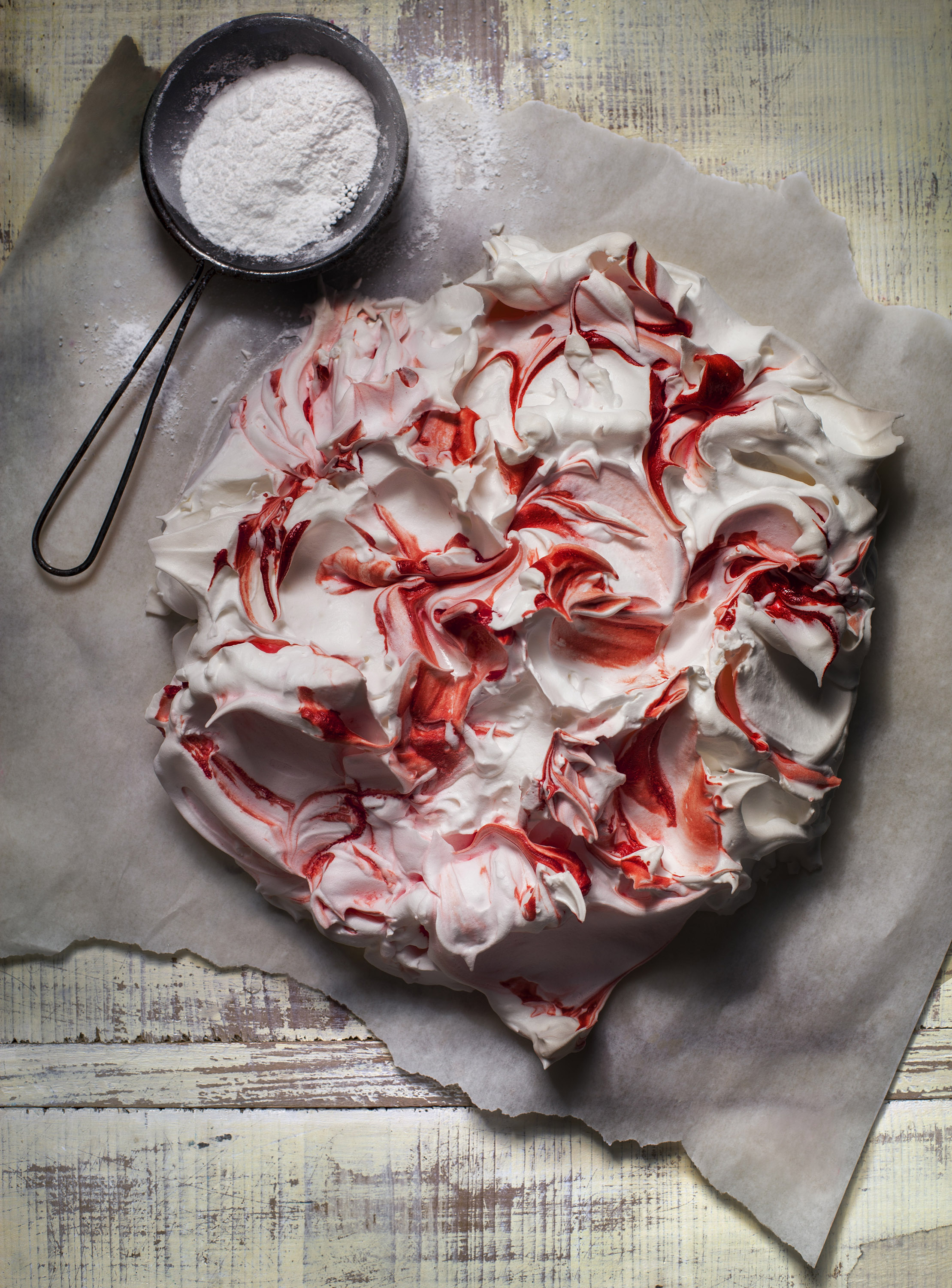 Julia Azzarello, professional food stylist, Style Department, meringue