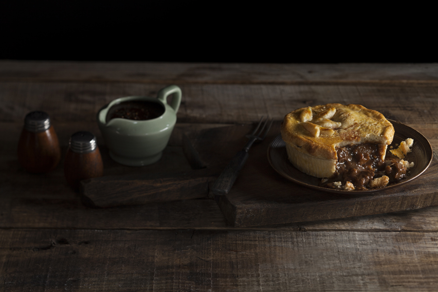 Julia Azzarello, food stylist, Tesco Finest, Beef Pie