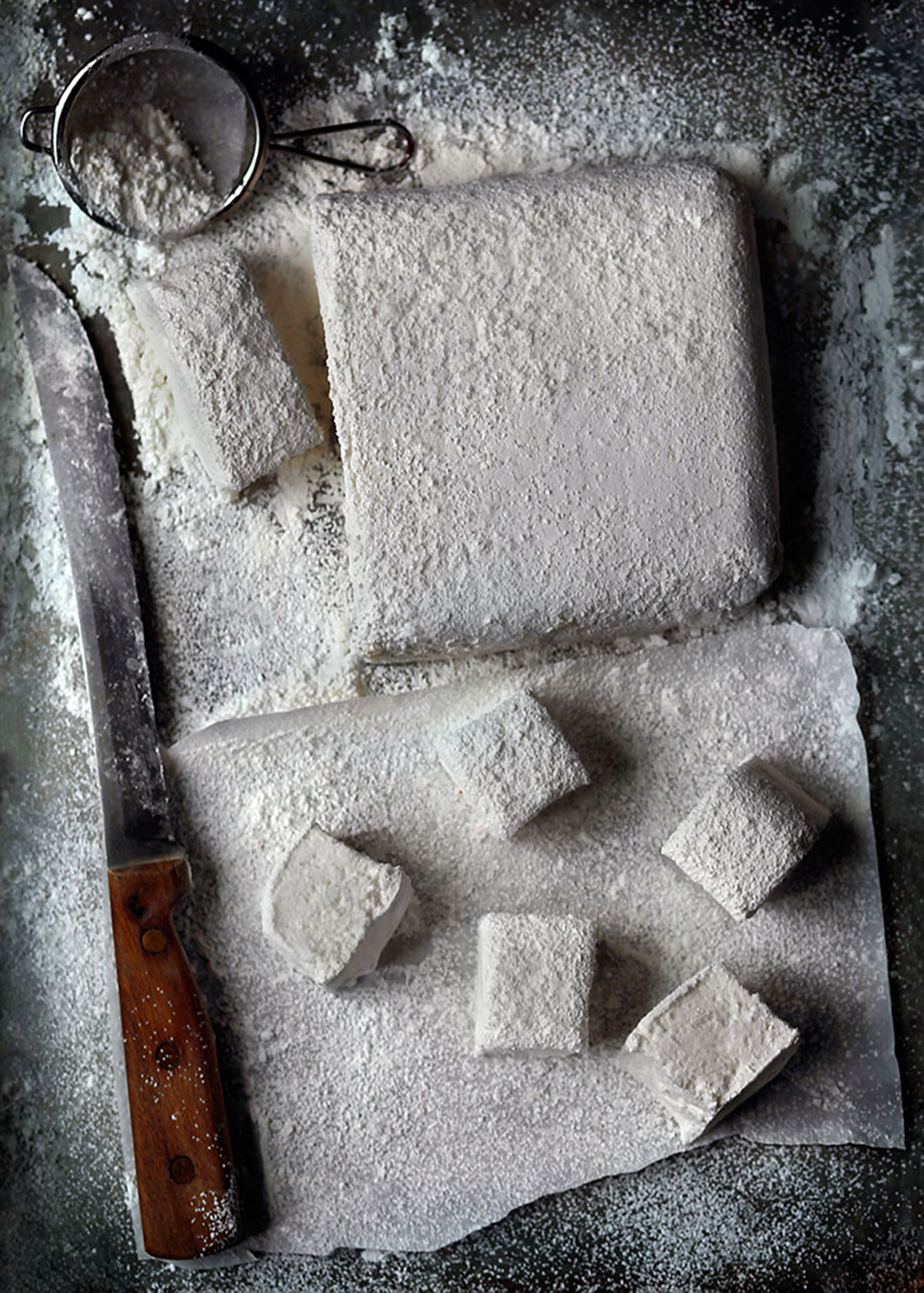 Julia Azzarello, food stylist,Marshmellow, Dante Ferris, Photographer