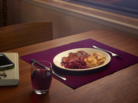 East Coast Trains, food styling, George Logan, photographer
