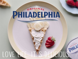 Philadelphia Cream Cheese, Angela Boggiano, tv commercial, professional food stylist